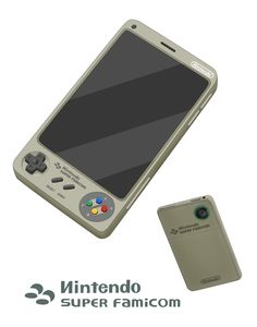 Mock-Ups Of Nintendo Smartphones That Look Like Vintage Video Game Consoles Super Nintendo, Smartphone, Game Tester Jobs, Portable Console, Nintendo Console, Arcade Stick, Hand Games, Custom Consoles, Gamers Anime