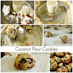 Recipe: Coconut Flour Chocolate Chip Cookies Ingredients 3 Tablespoons Coconut Flour 2 Tablespoons Coconut Oil Tablespoons Honey or Maple Syrup Teaspoon Vanilla Extract Pinch of salt 2 Tablespoons Soy Free Chocolate Chips Coconut Flour Cookies, Coconut Flour Recipes, Paleo Cookies, Gluten Free Cookies, Gluten Free Desserts, Coconut Oil, Keto Desserts, Paleo Dessert, Healthy Sweets