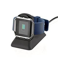 EloBeth Fitbit Blaze Accessoires,Fitbit Blaze Chargeur Adapteur pour Smartwatch Fitbit Blaze Smart Fitness Watch, avec Câble de Micro USB, NOIR: Amazon.fr: High-tech