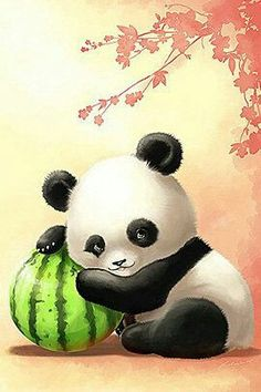 Cute Panda Cartoon, Cartoon Illustrations, Cute Illustration, Panda Bears, Panda Panda, Animal Drawings, Cute Drawings, Panda Mignon, Baby Animals