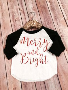 Hey, I found this really awesome Etsy listing at https://www.etsy.com/listing/255750890/merry-and-bright-christmas-shirtgold