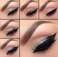 Вечерний макияж (стрелки)