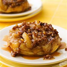 Upside-Down Caramel-Apple Biscuits from Crisco®