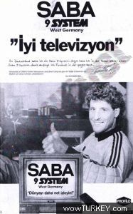 """Harald """"Toni"""" Schumacher had a Saba TV ! 80s Kids, Old Ads, Historical Pictures, Nostalgia, Print Ads, Film Movie, Vintage Advertisements, Old Things, Advertising"""