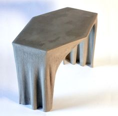 Fabric concrete coffee table donated to @aplusd_la made from fabric dipped to concrete got inspired by Antoni Gaudí's form study with gravity.