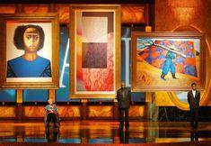 Sam Gilliam with his 2009 piece Recitals