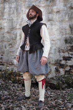 Life of common slovak reenactors: Prostý mužský komplet 17th Century Clothing, 17th Century Fashion, Baroque Fashion, European Fashion, Larp, Italian Men, Renaissance Fair, Historical Clothing, Fantasy