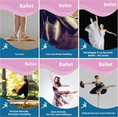 Ballet - Dance COMBO Would you like effortless turn outs, graceful developpe and arabesque, strong  and flexible ankles?  #dance