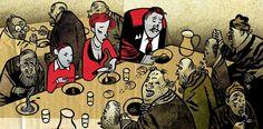 Santiago Sequeiros. ilustración para prensa