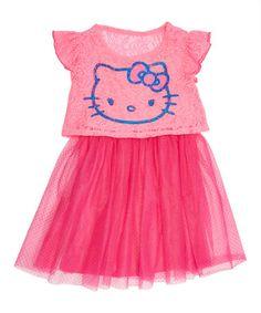 Ultra Pink & Blue Hello Kitty Tutu Dress - Girls