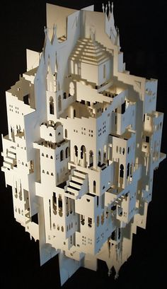 The Kirigami Architecture of Ingrid Siliakus Kirigami, Paper Cutting, 3d Paper, Paper Crafts, Paper Architecture, Maquette Architecture, Wal Art, Paper Structure, Geometric Origami