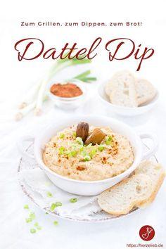 Dip Rezepte, Grillen Rezepte: Rezept für einen Dattel Dip von herzelieb. Der ist schnell gemacht und unglaublich lecker. Passt zu Fleisch, Brot und Gemüse. #dip #grillen #vegetarisch #veggie