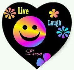 Retro rainbow Smiley face and flowers stickers, That say Live, Laugh, and love. You can change the words. Love Heart, Peace And Love, My Love, Smileys, Just Smile, Smile Face, Kristina Webb, Smiley Emoji, Smiling People