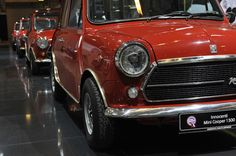 Not a personal fave, but Racing Red never goes out of style. Minis, Mini Morris, Mini Countryman, Mini Cooper S, Classic Mini, Motor Car, Jaguar, Icon Design, Techno