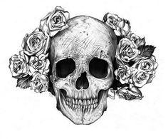 texturas bellas en rosas y calavera