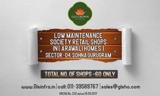 Gls Crown Plaza in Sector 4, Sohna, South Of Gurgaon