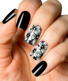 What Christmas manicure to choose for a festive mood - My Nails Gel Uv Nails, Nails Polish, Acrylic Nails, Black Nail Art, Black Nails, Cute Nails, Pretty Nails, Nagel Stamping, Christmas Manicure