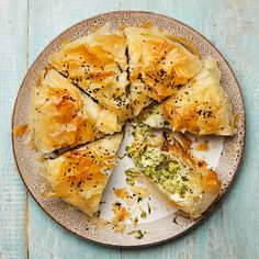 Yotam Ottolenghi's courgette and herb filo pie. Photographs: Louise Hagger. Food styling: Emily Kydd. Prop styling: Jennifer Kay
