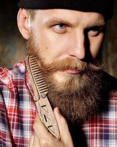 Custom Gift for Him Wooden Comb Beard Hair by EnjoyTheWood on Etsy