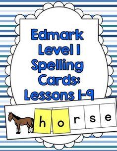 Edmark Spelling Cards Level 1: Lessons 1-9