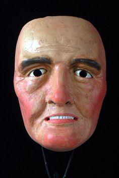 European mask - folk mask from Bavaria, Germany