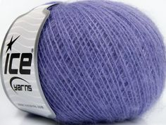 This is an excellent yarn with high-content of Alpaca Mohair and Merino Wool. Works excellent for your fine-weight patterns with more than 30 plain and melange colors. Fiber Content 40% Merino Wool 30% Acrylic 20% Alpaca 10% Mohair Lavender Brand Ice Yarns fnt2-46583