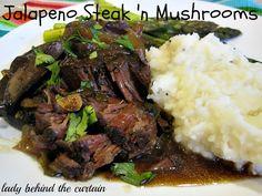 Jalapeno Steak 'n' Mushrooms