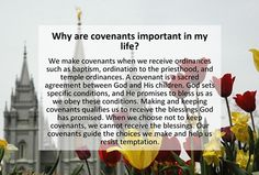 July:  why-are-covenants-important-in-my-life