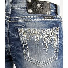 Miss Me Sequin Skinny Stretch Jean - miss-me - Polyvore