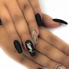 "384 Likes, 7 Comments - Jade Tang (@jadetangtheartist) on Instagram: ""Fashion fade, style is eternal - Yves Saint Laurent YSL nail art for @missswendyle Real…"""