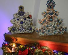 We have the perfect gift for your holidays this year. We call it Russian Princess for its royal blue. #handmade #christmastree #gift #christmas gift #christmas #perfect gift #jewelled christmas tree