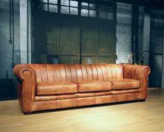 Vintage leren chesterfield bank Chester - ROBUUSTE TAFELS.NL Unieke robuuste maatwerk meubelen!