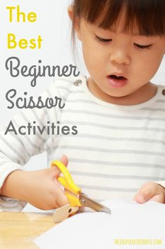 The Inspired Treehouse - These simple beginner cutting skills are great for helping young kids and kids with fine motor delays to learn how to snip paper and move scissors across paper. Toddler Learning, Preschool Learning, Preschool Activities, Teaching Kids, Time Activities, Fine Motor Activities For Kids, Toddler Activities, Cutting Activities For Kids, Childhood Education