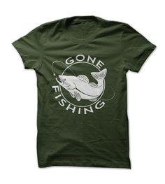 Gone Fishing Logo T Shirt #sport #tshirt