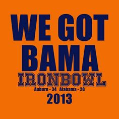 """The chant at stadiums across the country was """"We Want Bama."""" Everyone wanted to defeat the back-to-back national champions and ranked number one team, but only Auburn did it. We GOT Bama! Iron Bowl 2013  ~ Check this out too ~ RollTideWarEagle.com sports stories that inform and entertain and Train Deck to learn rules of the game you love. #Collegefootball Let us know what you think. #Auburn #WarEagle"""