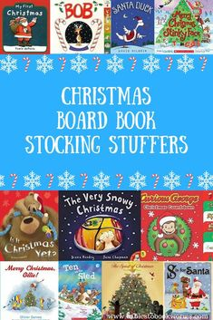 Looking for last minute stocking stuffers? Check out these great Christmas board books perfect for the littlest ones on your list! #ChristmasBooks #KidsBooks