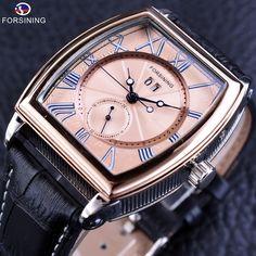 Forsining Luxury Shanghai Movement Waterproof Minimalist Design Genuine Belt Mens Automatic Male Wrist Watches Top Brand Luxury #Affiliate