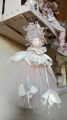 Christmas Angels, Christmas Crafts, Fairy Dolls, Patch, Paper Mache, Diy And Crafts, Projects To Try, Fabric, Handmade