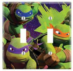 "Ninja Turtles Decorative Dual Toggle Light Switch Wall Plate (Standard 2-Gang 4.5"" x 4.5"")"