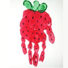 Spring Handprint Footprint Art Roundup Spring Handprint Amp Footprint Art Roundup A Step In The Journey Strawberry Crafts, Fruit Crafts, Red Crafts, Baby Crafts, Toddler Art, Toddler Crafts, Crafts For Kids, Daycare Crafts, Classroom Crafts