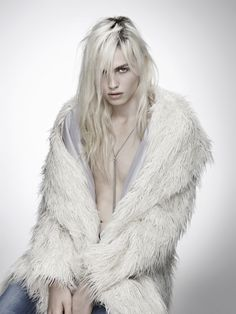 Andrej Pejic. I really like this picture. Makes me think of the Snow Queen but with a young man-so pretty.*** Andrej is now Andreja. He transitioned to a woman sometime in 2014.