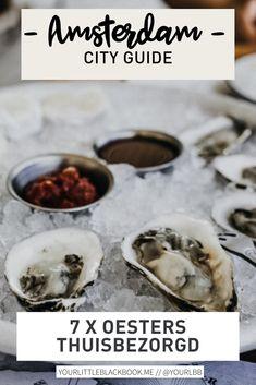 Van een oyster happy hour ergens in de stad naar een oesterparty aan je eigen tafel. In dit nieuwe lijstje hebben we een overzicht gemaakt van restaurants en viswinkels die oesters thuisbezorgen in Amsterdam. Amsterdam Travel Guide, Happy Hour, The Good Place, Restaurants, Future, Corona, Future Tense, Restaurant