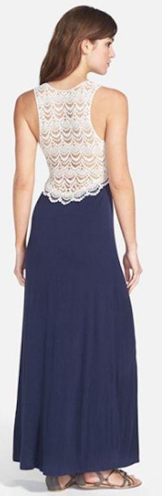 pretty crochet back jersey dress http://rstyle.me/n/j4ywvr9te
