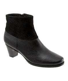 Look what I found on #zulily! Black Leather Darla Ankle Boot by SoftWalk #zulilyfinds