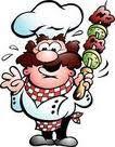 Για να μην καούν τα ξύλινα καλαμάκια για σουβλάκια | symboyles Kebab Skewers, Shish Kebab, Emoticon, Kebab Recipes, Outdoor Cooking, Vinaigrette, Clipart, Bowser, Illustration