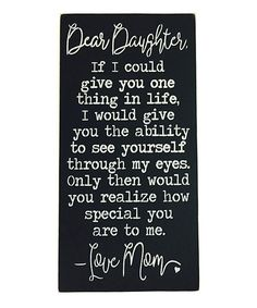 Look at this 'Dear Daughter' Wall Sign on #zulily today!