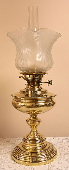 Brass Gone with the Wind Lamp