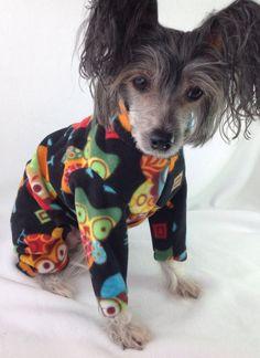Wise Owls PJs Custom Made Fleece Dog Pajamas by NakedDogPJs