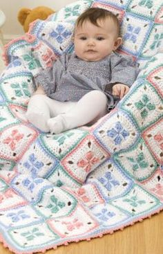 Baby Checks Blanket Crochet Pattern