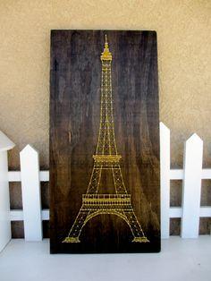 Tour Eiffel String Art par CherishbyNicole sur Etsy